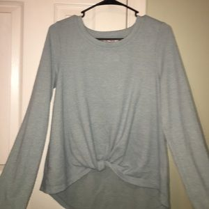 Juniors Blue Tied Sweater